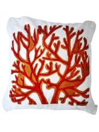 Le Botteghe su Gologone Acrylic Hand Painted Outdoor Cushion 40x40 cm - Red Fantasy