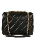 Pinko Love Big Puff Maxi Shoulder Bag - Black