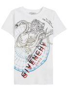Givenchy White Cotton T-shirt With Logo Print - White