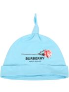 Burberry Light Blue Set For Babygirl With Roses - Light Blue