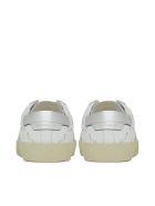 Saint Laurent Flat Heel Leather Up - Bianco
