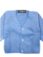 Little Bear Turquoise Cotton Cardigan - Azzurro