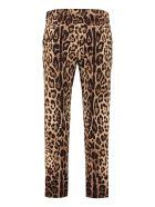 Dolce & Gabbana Printed Cotton Trousers - Animalier