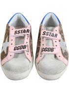 Golden Goose Multicolor ''old School'' Sneakers For Girl - White