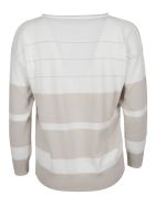 Fabiana Filippi Ribbed Stripe Sweatshirt - Bianco