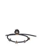 Alexander McQueen Queen Friendship Bracelet - Black