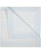 Fendi Light Blue Blanket For Baby Boy With Logo - Light Blue