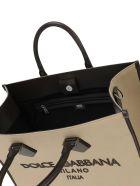 Dolce & Gabbana Shopping Canva Nappa Totebag - Tortora Fango
