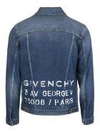 Givenchy Logo Print Buttoned Denim Jacket