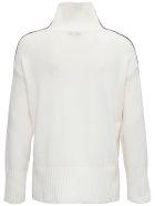 Antonelli Pimpinella White Wool Blend Sweater - White