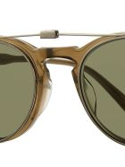 Garrett Leight 505/47 WINWARD CLIP 47 Sunglasses - Bs/grn Brushed Silver
