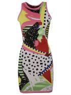 Balmain Slim-fit Sleeveless Dress - Multicolor