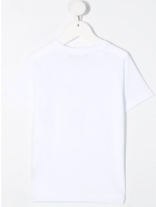 Balmain Unisex Kid White And Gold Logo T-shirt