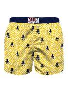 MC2 Saint Barth Yellow   Boy's Swim Trunks Embroidery