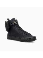 Prada Prada Wheel Re-nylon High-top Sneakers - BLACK