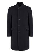 Giorgio Armani Single-breasted Wool Coat - blue