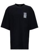 Balenciaga Cotton Oversize Barcode T-shirt - White/black
