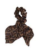 Fendi Brown Hairband For Girl - Brown