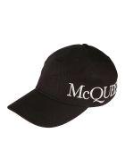 Alexander McQueen Logo Print Oversized Cap - Nero