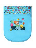 Moschino Light Blue Sleeping Bag For Babyboy With Teddy Bear - Blue