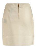 Balmain 6 Button Ribbed Waist Skirt - Beige