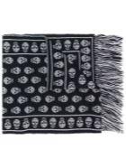 Alexander McQueen Skull Wool Scarf - Black