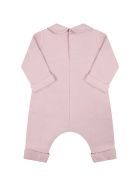 Gucci Pink Jumpsuit For Baby Girl With Logo - Pink