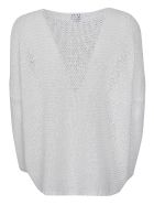 f cashmere Knitted Oversized Top - White