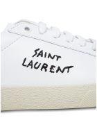 Saint Laurent Court Classic Sl Leather Sneakers - White