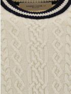 Golden Goose Devon Sweater - Natural white/blue