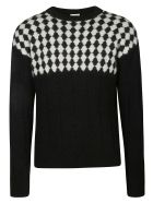 Saint Laurent Check Knit Sweater - Nero