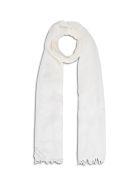 Fabiana Filippi White Cashmere Blend Scarf With Glitter Detail - White