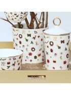 Taitù Large Cachepot - Noel Oro Collection - Multicolor and Gold