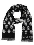 Alexander McQueen Black Wool Scarf - Nero