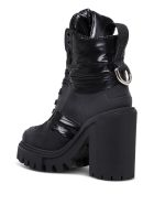 Dolce & Gabbana Black Leather And Nylon Trekking Boots - Black
