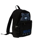 Kenzo Tiger Embroidery Backpack - Black/Blue