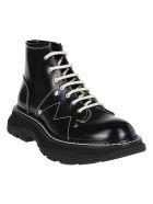 Alexander McQueen Black Leather Tread Boots - Nero