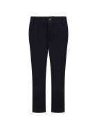 Armani Collezioni Blue Trousers For Boy With Logo - Blue