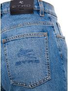 Etro Violet Flared Jeans In Denim - Blu