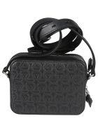 Salvatore Ferragamo Travel Embossed Shoulder Bag - Nero