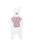 Gucci White Set For Babykids With Logo - White