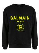 Balmain Logo Sweatshirt - Black/Yellow
