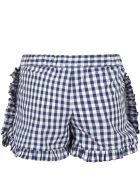 Sonia Rykiel Multicolor Short For Girl With Strawberry - Blue