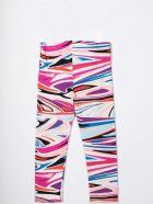 Emilio Pucci Girl's Leggings With Print - Fuxia-celeste