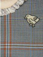 Gucci Baby Chick Plaid Wool Dress - Celeste