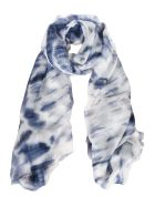 Altea All-over Printed Scarf - Blue/White