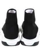 Balenciaga Black Sneakers For Kids With Logo - Black