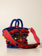 Sikuly Handbag Catania Sikuly Coffa Bag With Multi Embroidery And Applications - Multicolor