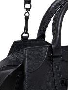 Balenciaga Neo Classic City Handbag In Black Hammered Leather - Black