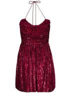 Saint Laurent Strapless Sequin Dress - Fuxia